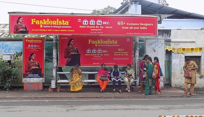 Fashionista Bus Shelter Advertisement Coimbatore