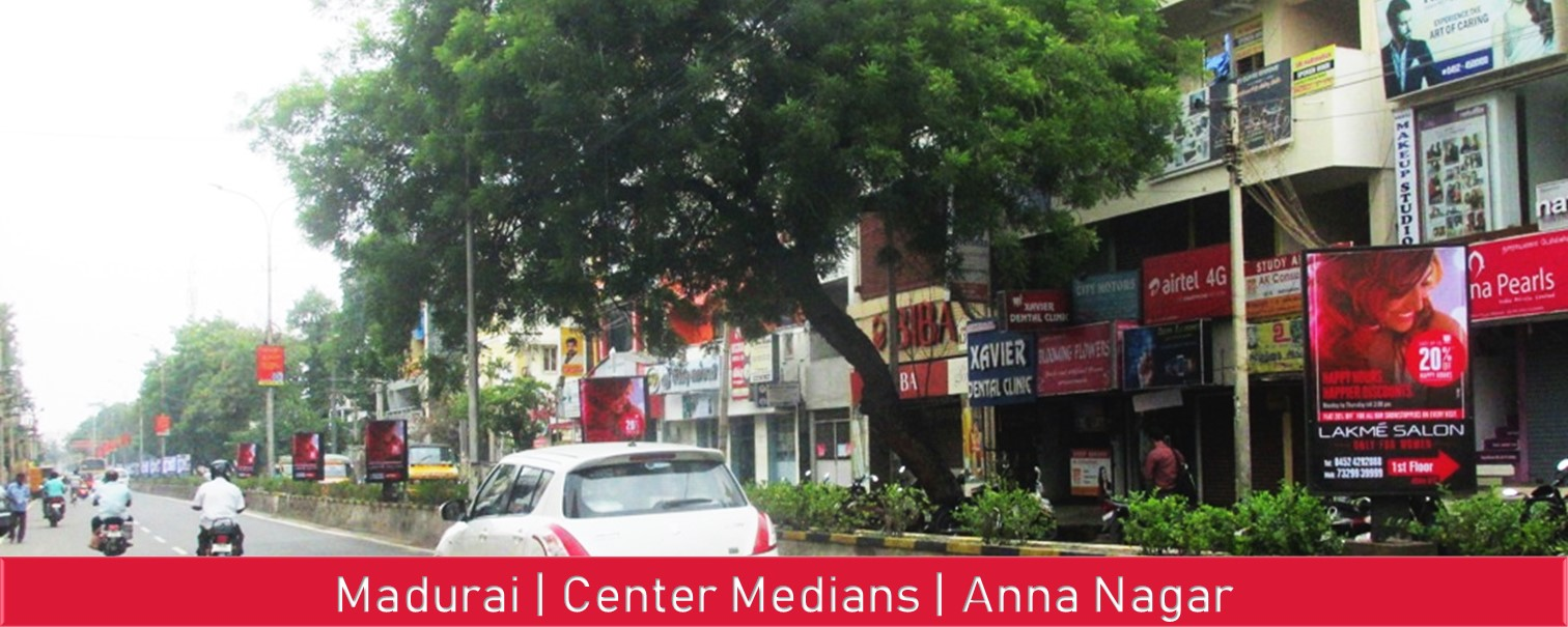 Madurai-Center-Medians-and-Pole-Kiosks-Advertising-OOH-ADs