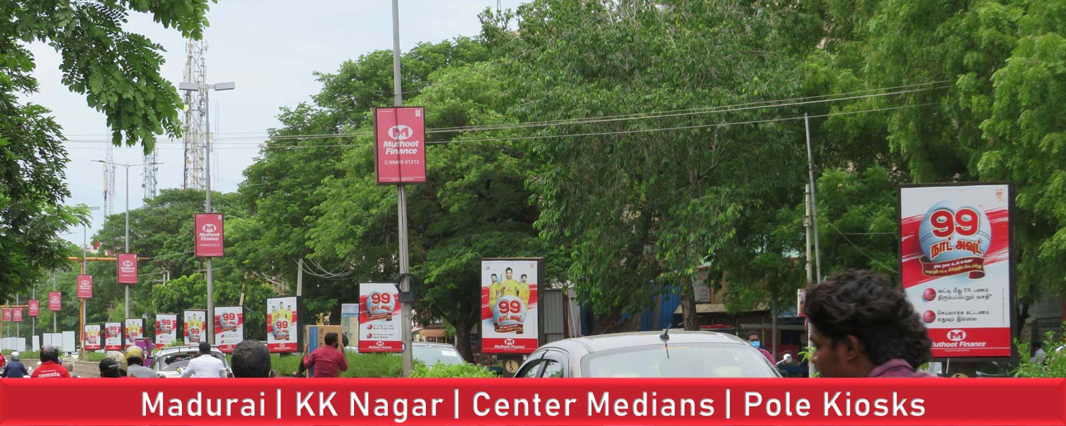 Madurai-Outdoor-Advertising-Center-Medians-Pole-Kiosks-in-KK-Nagar